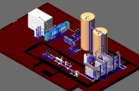 Модель участка водоподготовки